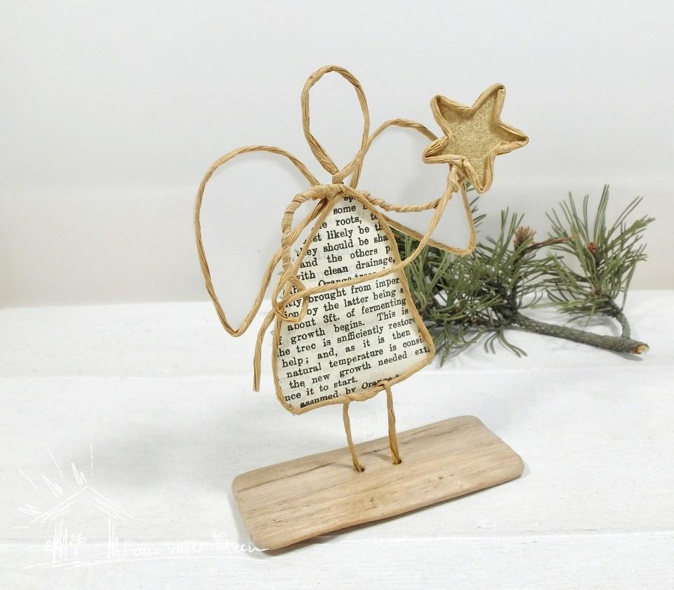 Verpackung für den Papierkordelengel - ein individuelles Geschenk zu Weihnachten