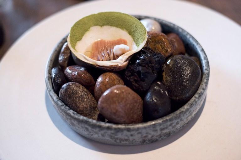 Mahogany clam and grains
