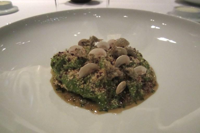 Char & caviar from the Tainach region. Lettuce, mushrooms & hazelnut