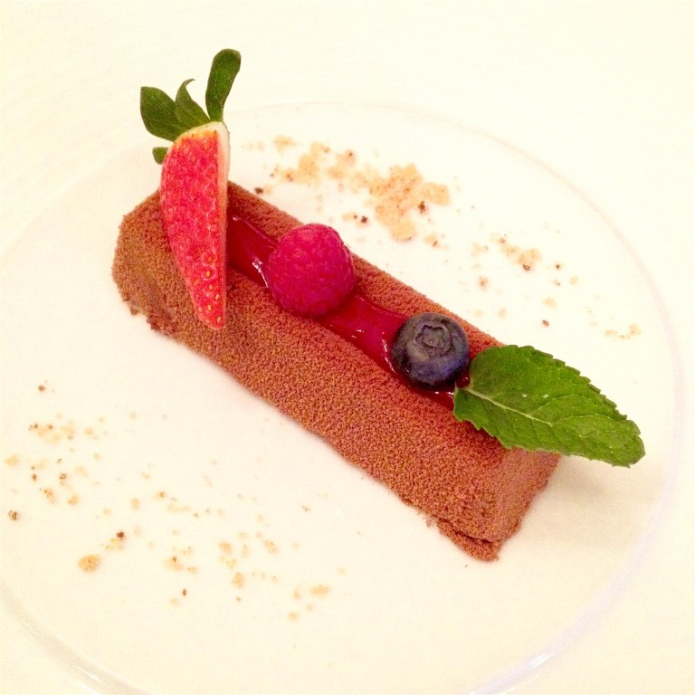 Chocolate with raspberries