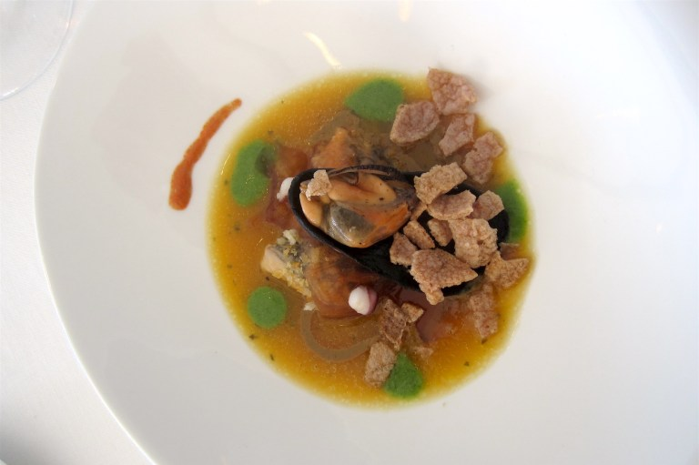 Like a moussels soup … and octopus – Fumiko Sakai, Casa Mele (Positano) *