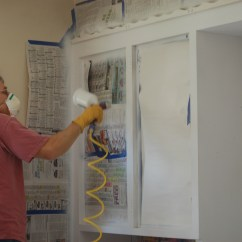 Spraying Kitchen Cabinets Eco Friendly How To Painting