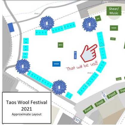 Taos Fiber Fest Map
