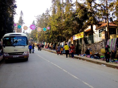 The street are lined with Sapa specialities
