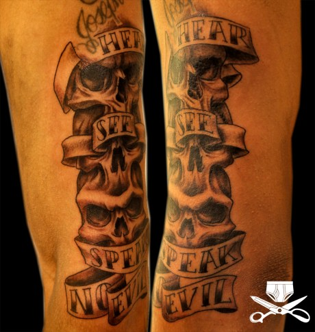 skull tattoo hautedraws