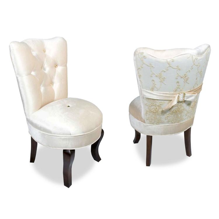 Cream Velvet Vanity Chair  Glamorous Furniture  Haute