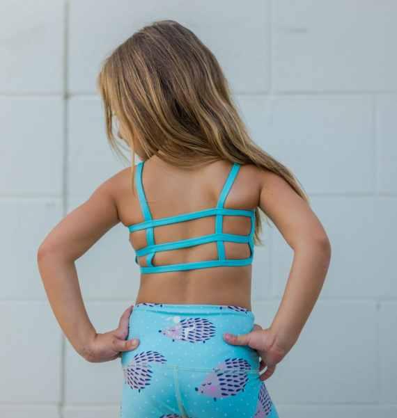 Lexi Kids Bralette Teal Blue