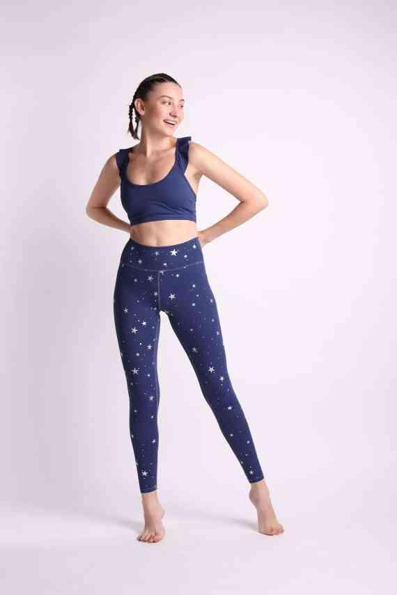 Stardust tights - blå og sølv