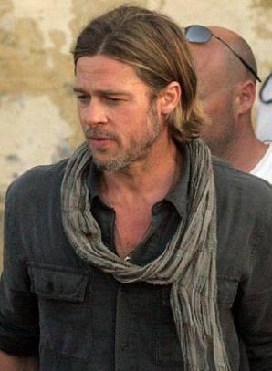 Brad Pitt World War Z Hair : world, Haute, Update:, Pitt's, Zombie, Flick, 'World, Release, [ON-SET, PHOTOS], Living