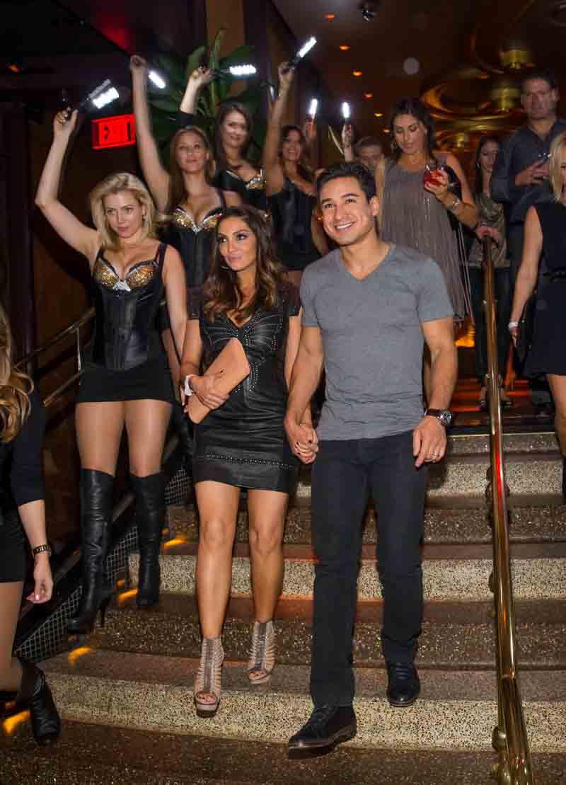 Haute Event Mario Lopez Helps His Wife Courtney Celebrate