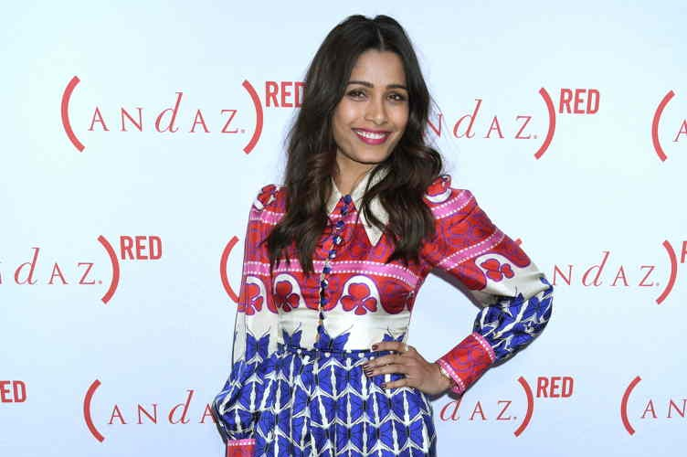 "Prodigious! ""The Jungle Book"" Star Freida Pinto Talks Philanthropy + Girl Power In Hollywood"