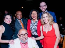 Janice Mirikitani, Willie Brown, London Breed, Scott Wiener, Karen J. Hanrahan, Rev. Cecil Williams (in front)