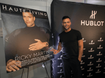 Ricky Martin celebrating his Haute Living cover