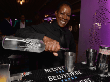 Belvedere vodka cocktails being made