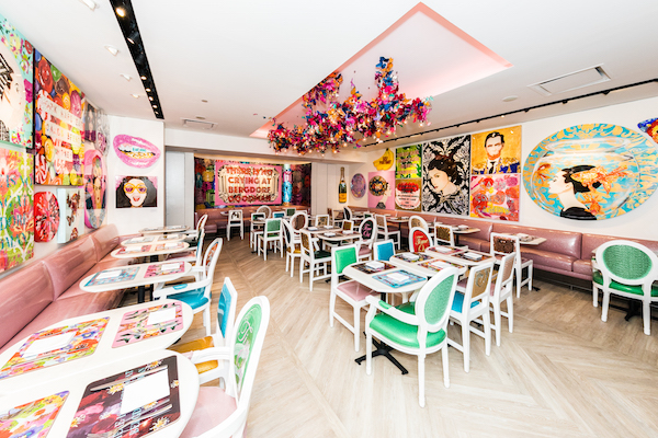 Ashley Longshore Returns To Bergdorf Goodman With Art Filled Caf