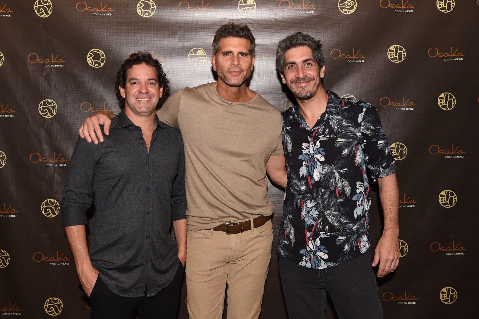 Diego De La Puente, Christian Meier y Diego Herrera