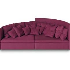 Fuschia Sofa Dark Teal Pillows Arflex Modern Furniture At Haute Living