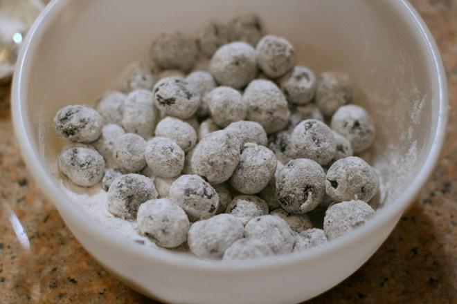 Flour Coated Blueberries