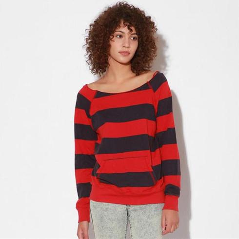 Truly Madly Deeply 80s Stripe Sweatshirt $39