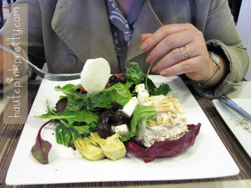 An Dyer in Neiman Marcus Zodiac Restaurant Trio Salad