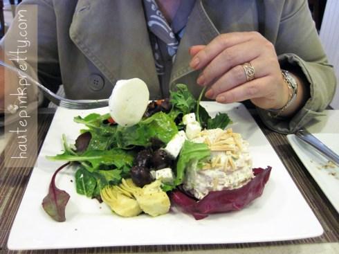An Dyer in Neiman Marcus Zodiac Restaurant Trio Salad