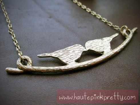 Forever 21 Gold Bird Necklace, Jeffrey Lazaro Handmade Chocolate Leather Bag