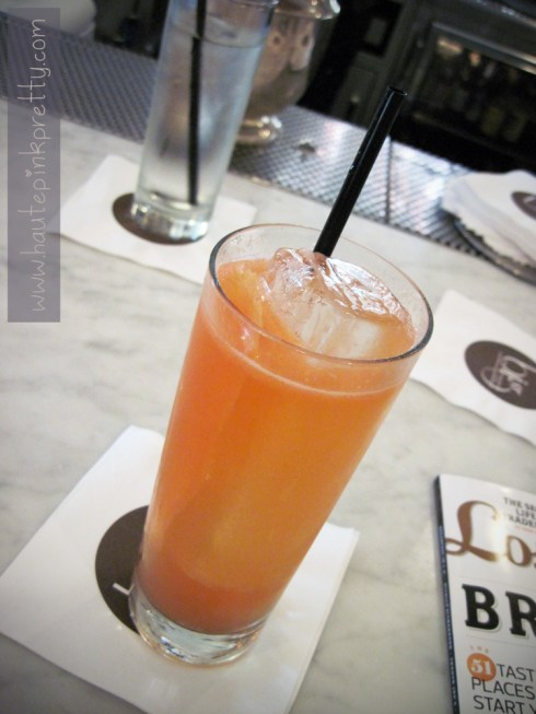 Alcove Cafe Grapefruit Brunch Cocktail