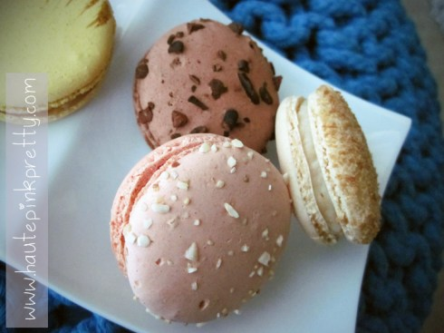lette macaron pink wedding, chocolate and coconut