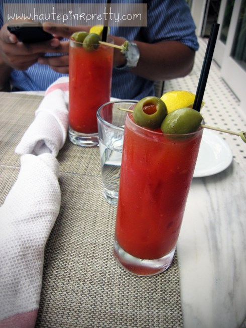 FIG Fairmont Miramar Hotel Santa Monica Bloody Mary