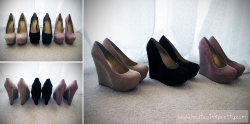 Baker Maddie 2 Wedges in Light Tan, Black and Pink