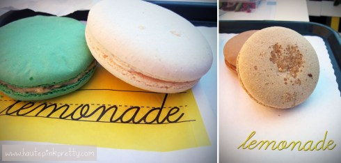 Lemonade Giant Pistachio, Vanilla and Salted Caramel Macarons