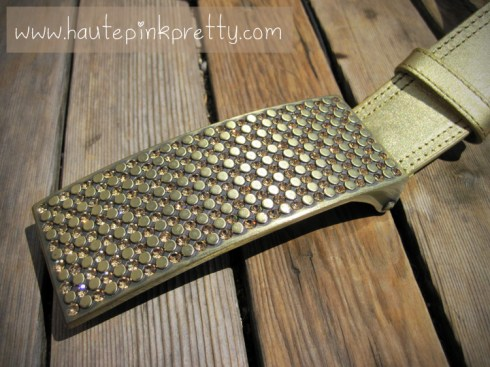 Nordstrom Gold Studded Belt