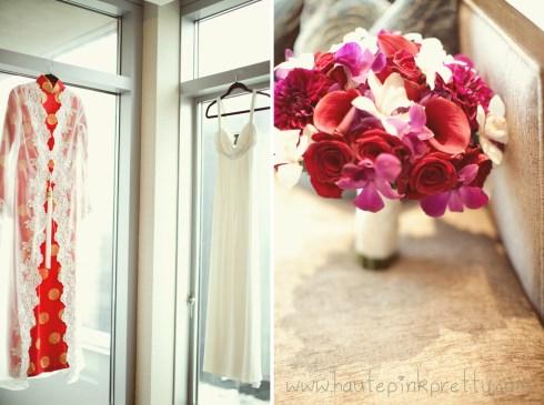 Dyer Wedding - Ao Dai Vietnamese Dress, JC Collection Reception Dress and Bouquet