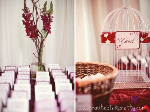 Dyer Wedding - Escort Cards and Card Bird Cage