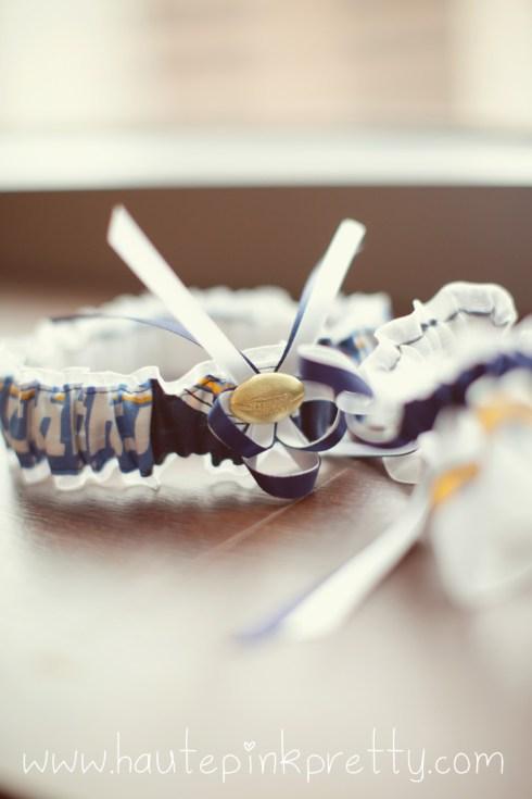 Dyer Wedding - San Diego Charger Garter Set