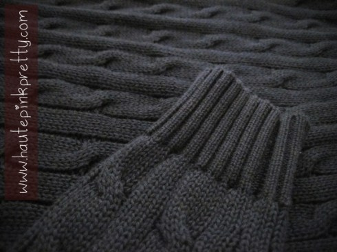 American Apparel Navy Cable Knit Sweater