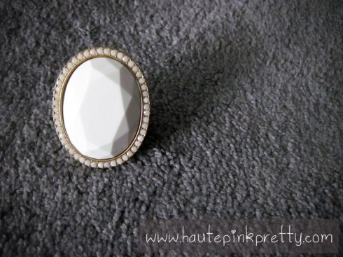 Decree White Stone Gold Ring