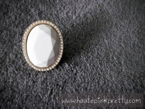 Decree White Stone Gold Ring