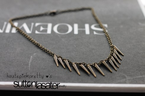 Sutton Lasater Brass Spike Bib Necklace