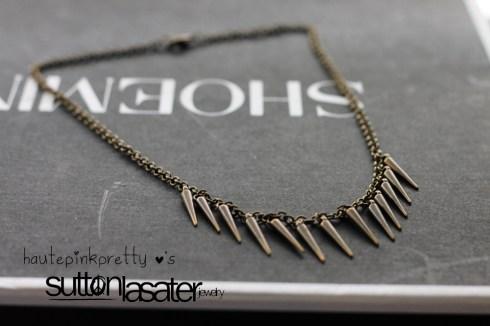 Sutton Lasater Brass Spike Bib Necklace
