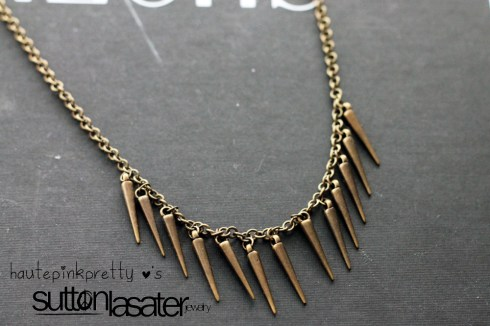 Sutton Lasater Brass Spike Bib Necklace detail