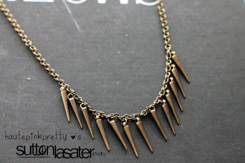 Sutton Lasater Brass Spike Bib Necklace detail