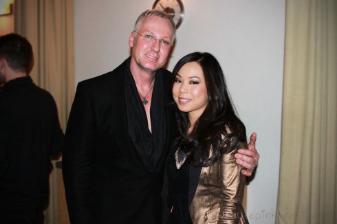 An Dyer with Celebrity Stylist Christopher Dove at PG Wella Trendvision Bellus Salon