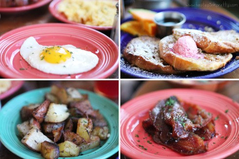 Grub Eggs, Country Potatoes, Our Friggin' Amazing French Toast and Crack Bacon