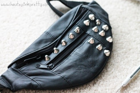 DIY Studded Fanny Pack by HautePinkPretty - Progress