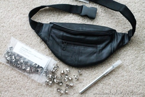 DIY Studded Fanny Pack by HautePinkPretty - What you need