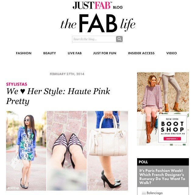 HautePinkPretty An Dyer featured in JustFab The Fab Life