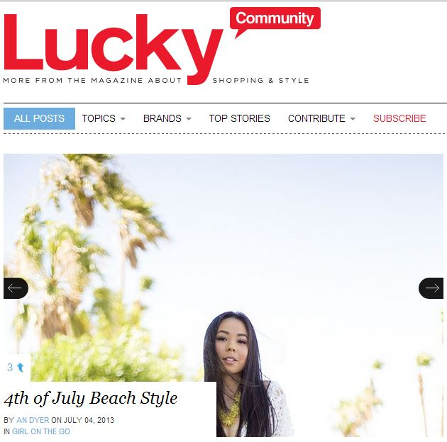 Lucky Mag Front Page 070413
