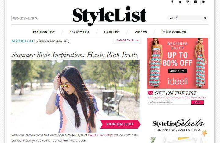 StyleList - Summer Style Inspiration Haute Pink Pretty