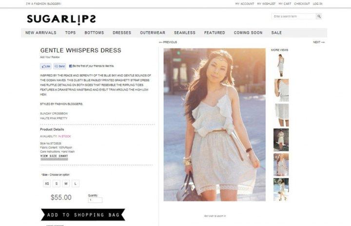 An Dyer of www.HautePinkPretty.com featured on Sugarlips Apparel - Gentle Whispers Dress